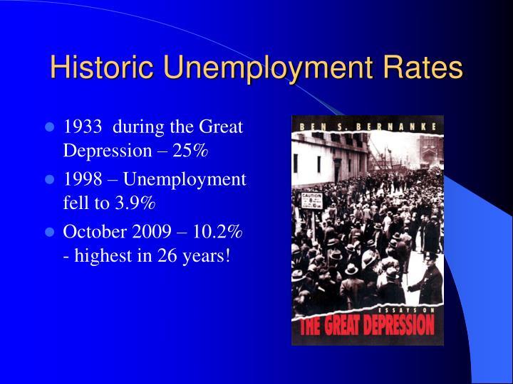 Historic Unemployment Rates