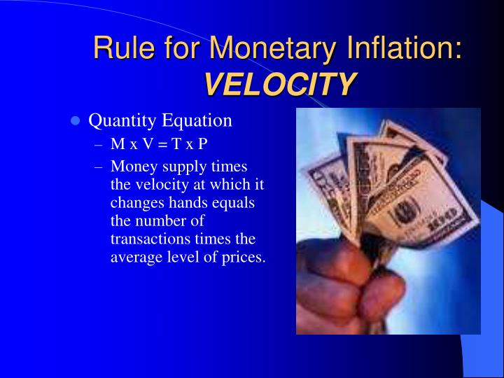 Rule for Monetary Inflation: