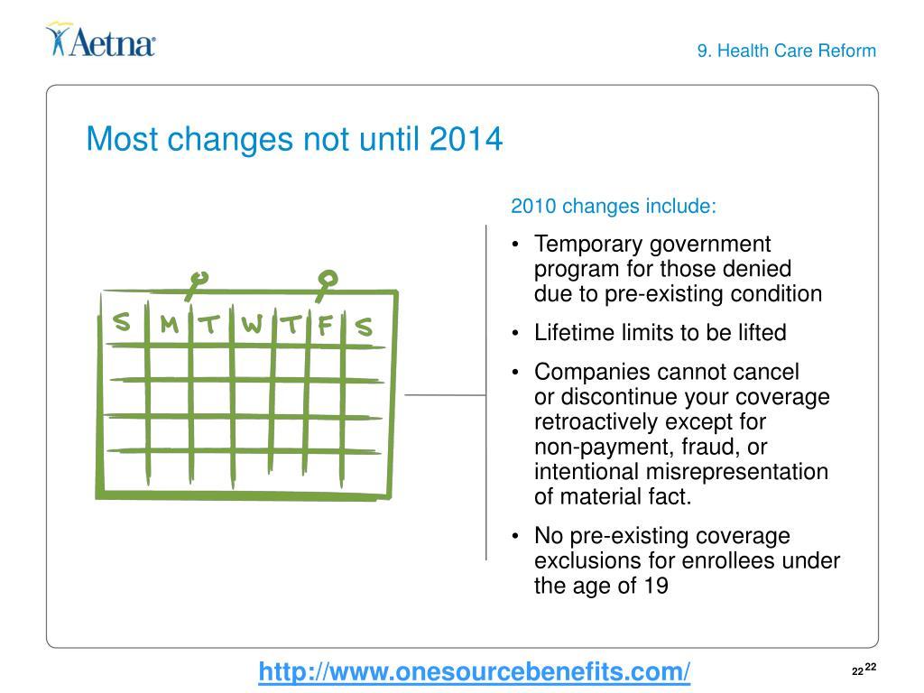9. Health Care Reform