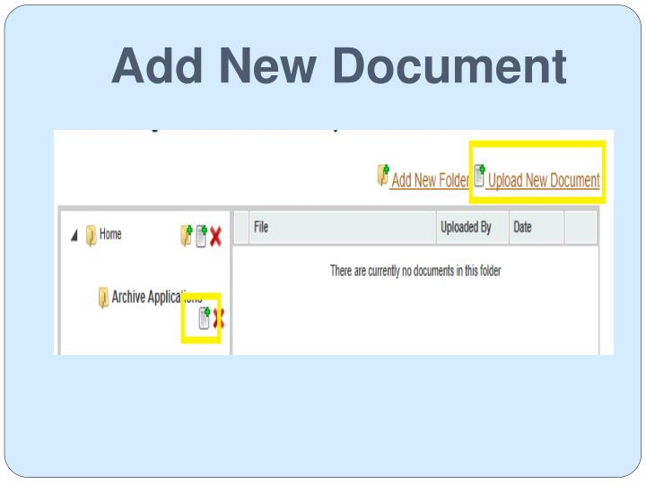 Add New Document