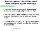 core competency benefits gained from using the jigsaw technique