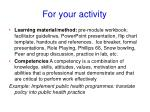for your activity1