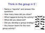 think in the group in 5