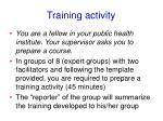 training activity1