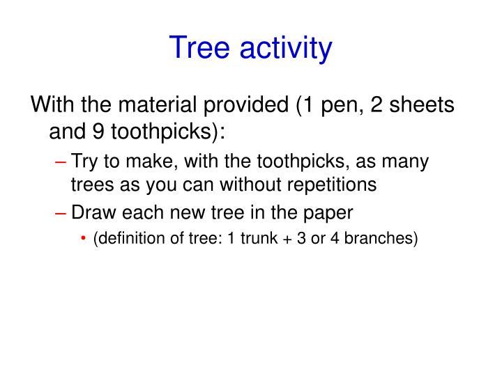 Tree activity