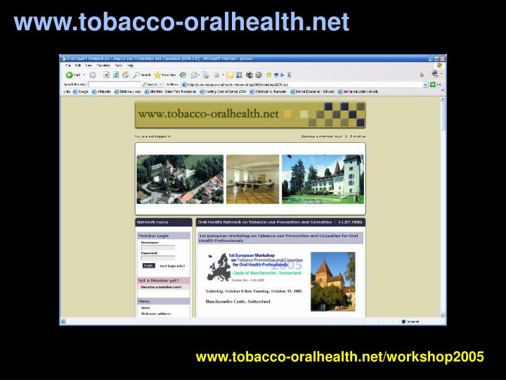 www.tobacco-oralhealth.net