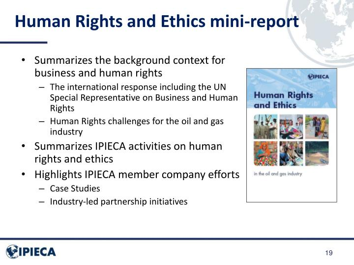 Human Rights and Ethics mini-report