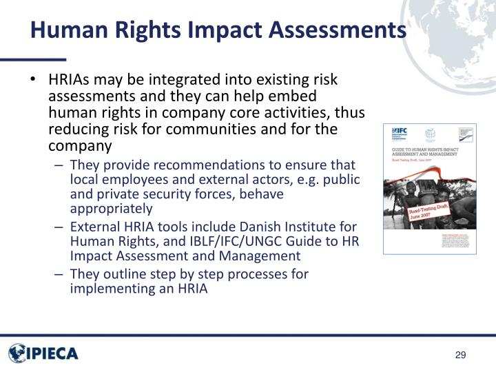 Human Rights Impact Assessments