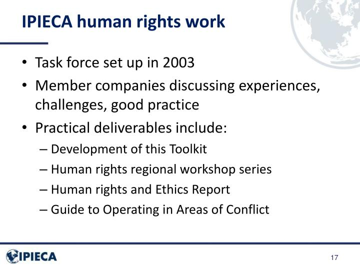 IPIECA human rights work