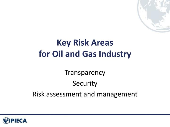 Key Risk Areas
