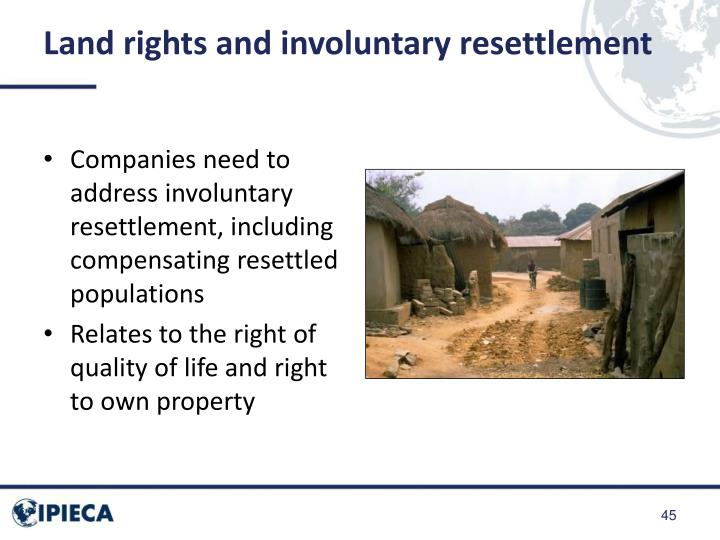 Land rights and involuntary resettlement