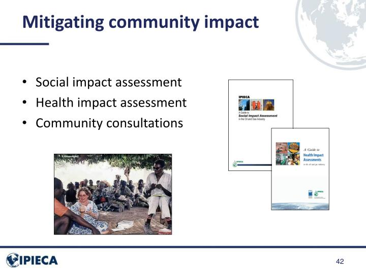 Mitigating community impact