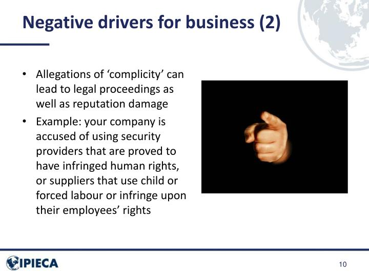 Negative drivers for business (2)