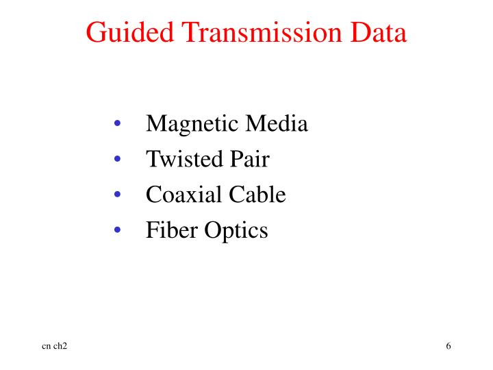 Guided Transmission Data