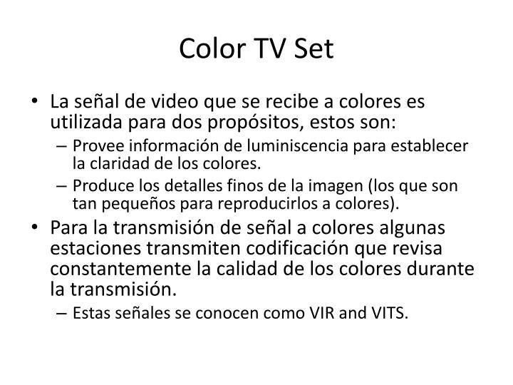 Color TV Set