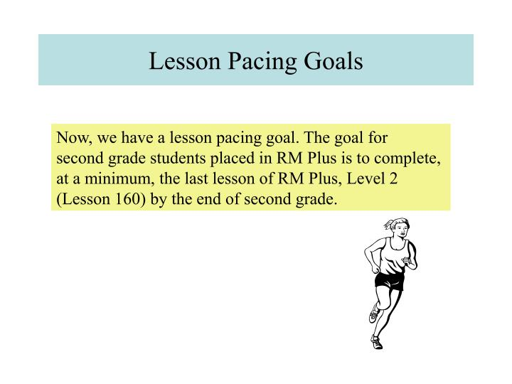 Lesson Pacing Goals