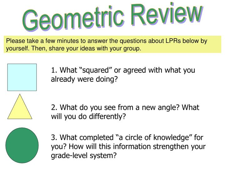 Geometric Review