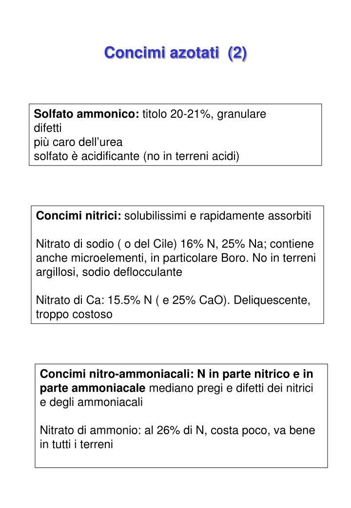 Concimi azotati  (2)