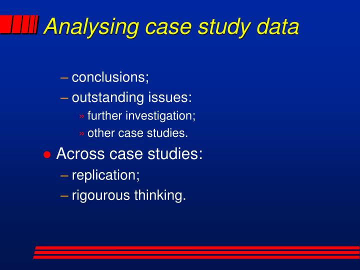Analysing case study data