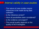 internal validity in case studies