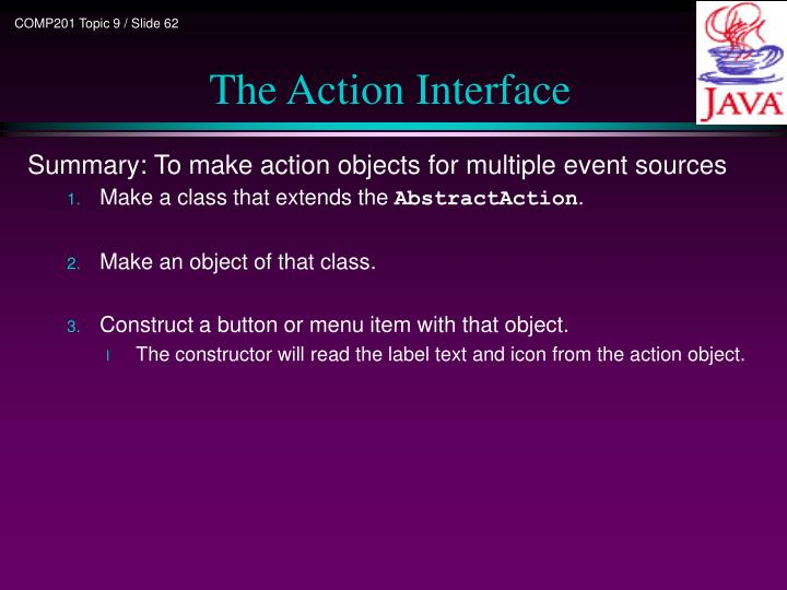 The Action Interface