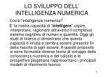 lo sviluppo dell intelligenza numerica