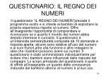 questionario il regno dei numeri