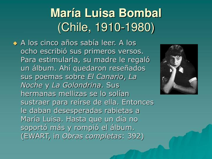 Mar a luisa bombal chile 1910 19801