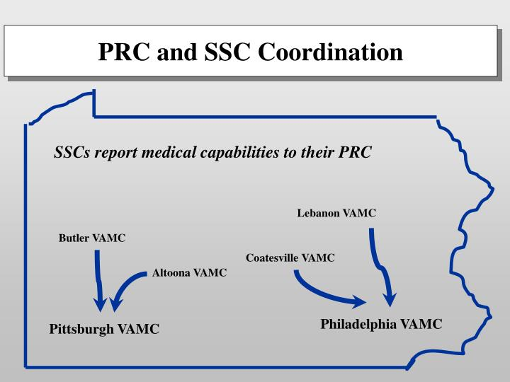 SSCs report medical capabilities to their PRC