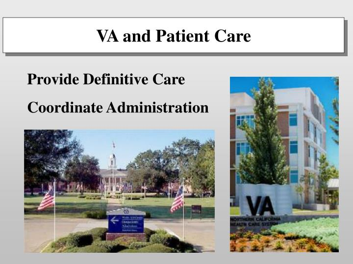 VA and Patient Care