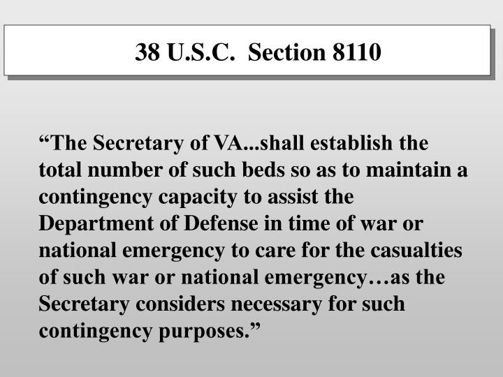 38 U.S.C.  Section 8110