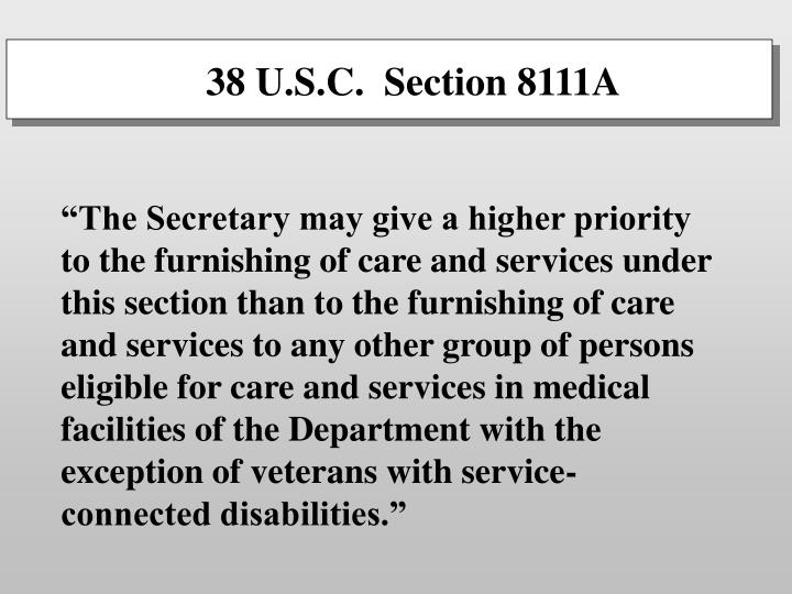 38 U.S.C.  Section 8111A