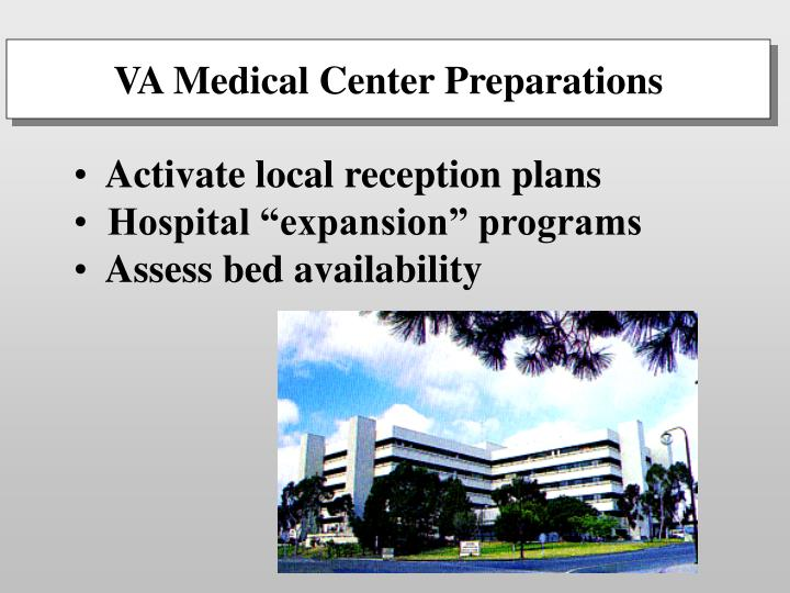 VA Medical Center Preparations