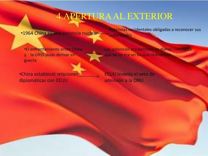 4.APERTURA AL EXTERIOR