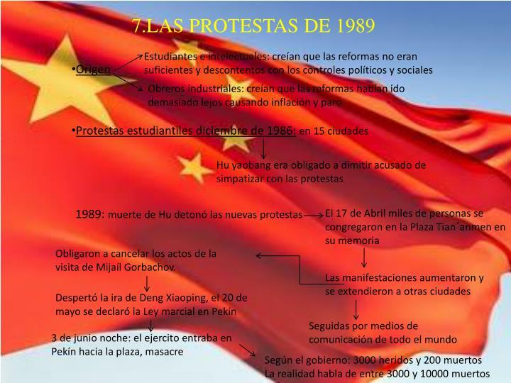 7.LAS PROTESTAS DE 1989