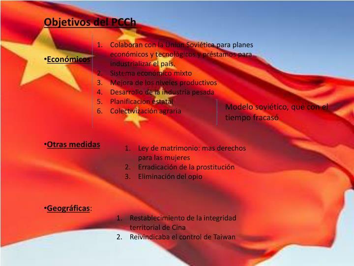 Objetivos del PCCh