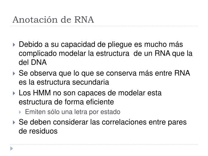 Anotación de RNA