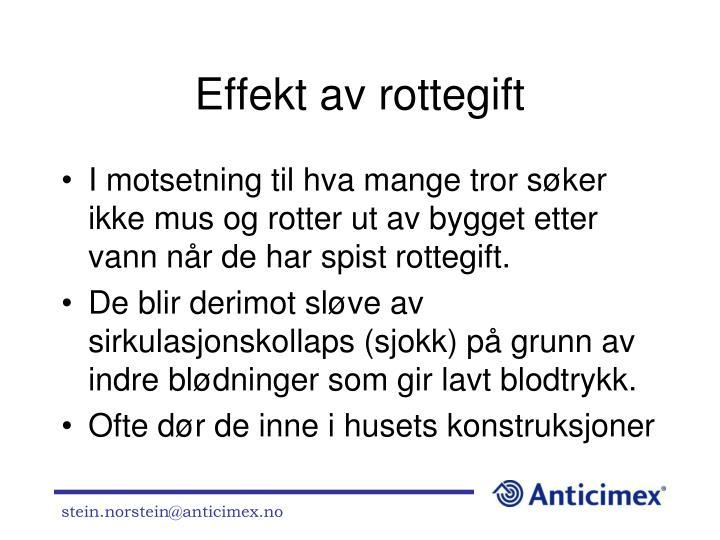 Effekt av rottegift