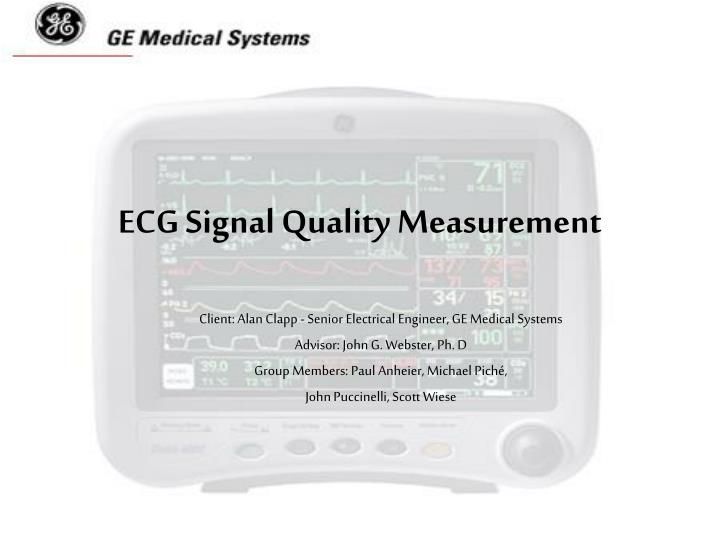 ecg signal quality measurement