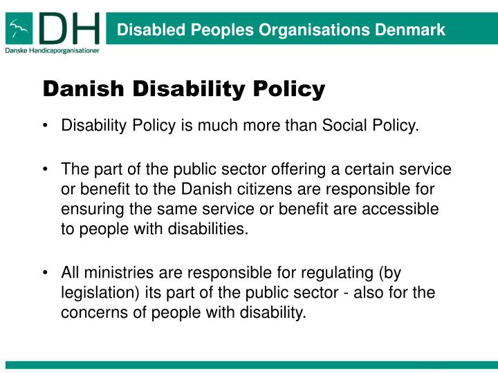 Danish Disability Policy