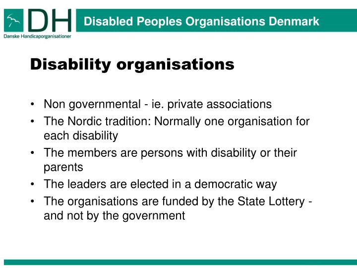 Disability organisations