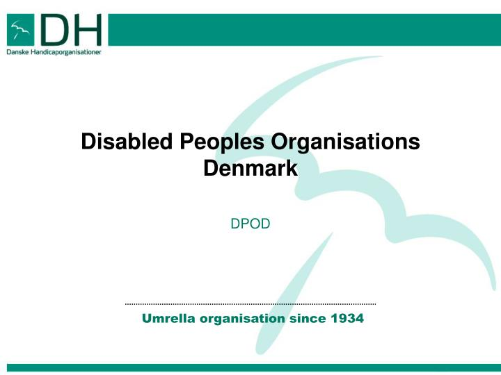 Disabled peoples organisations denmark