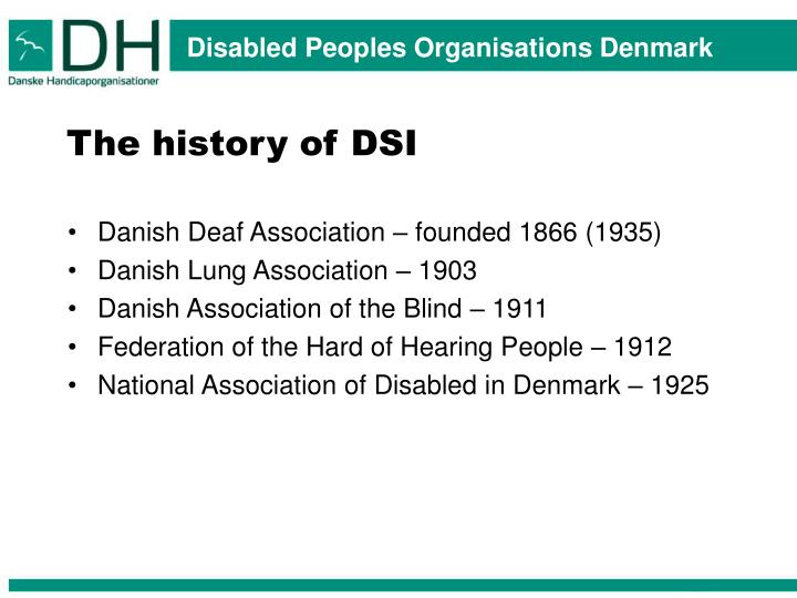 The history of DSI