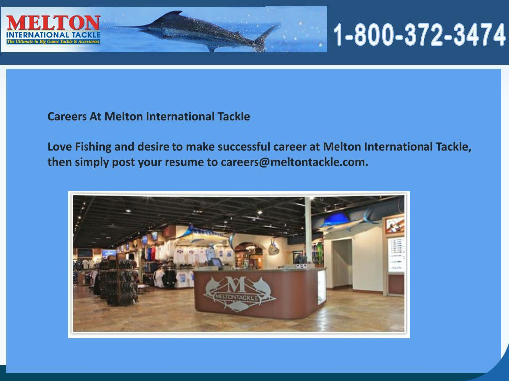 Careers At Melton International Tackle