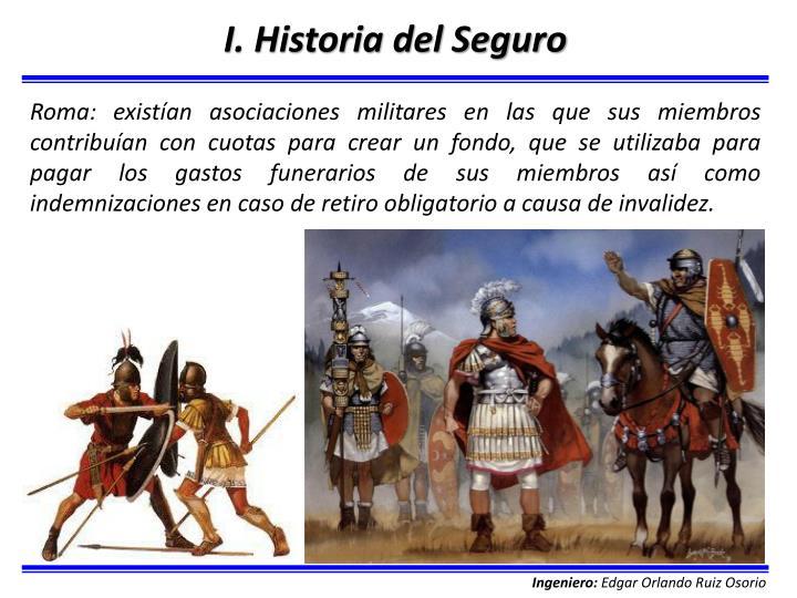 I. Historia del Seguro