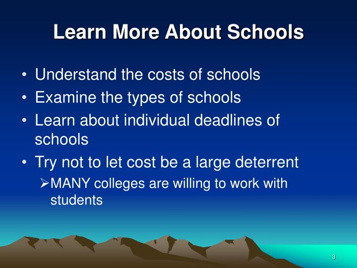 Learn More About Schools