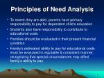 principles of need analysis