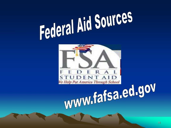 Federal Aid Sources