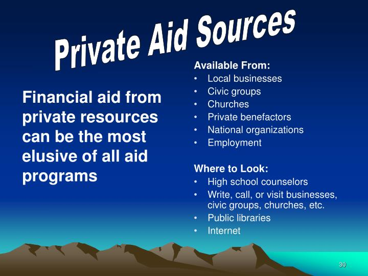 Financial aid from