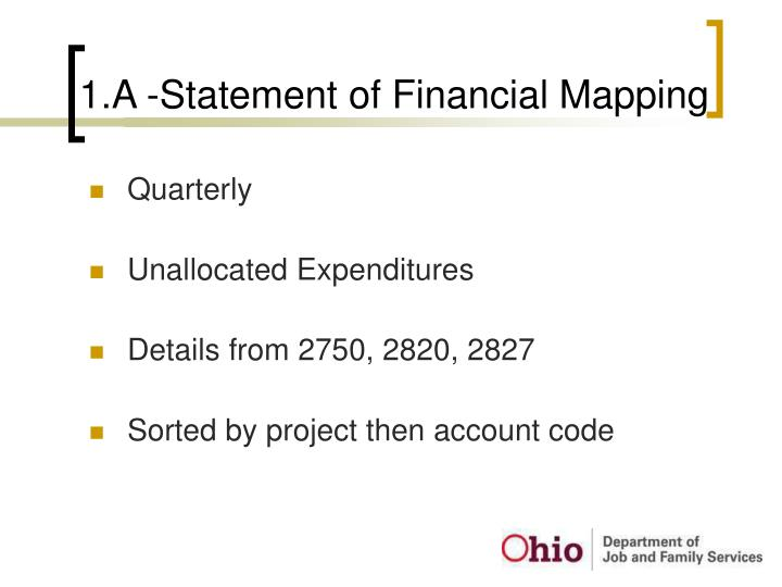 1.A -Statement of Financial Mapping
